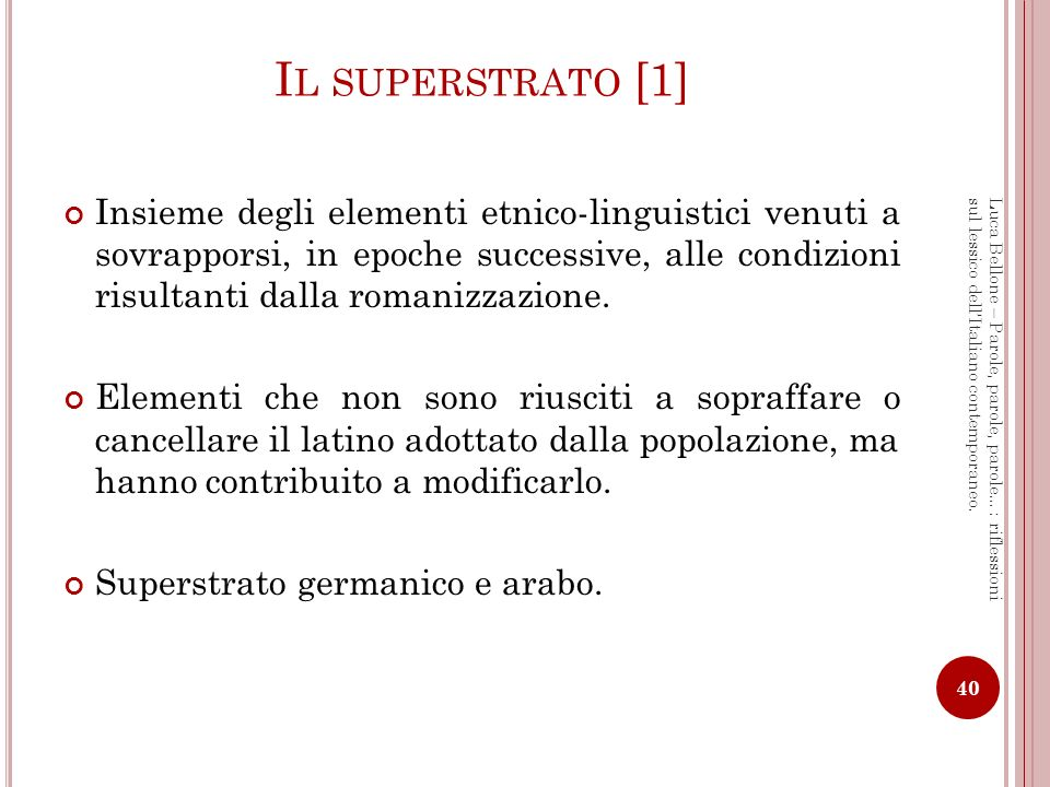 Il superstrato [1]